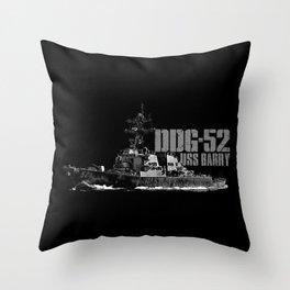 DDG-52 Barry Throw Pillow