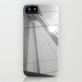 Bridge in Ludwigshafen, Germany. iPhone Case