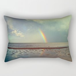 Rainbow Over Sea Rectangular Pillow