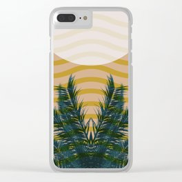 Beach vibrations Clear iPhone Case