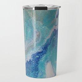 Dancing Tides: Acrylic Pour Painting Travel Mug