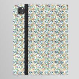 Retro Fish White iPad Folio Case