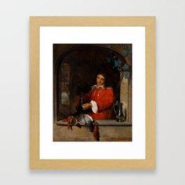 "Gabriël Metsu ""The Huntsman"" Framed Art Print"