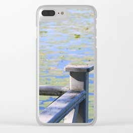 Water with waterlily Clear iPhone Case