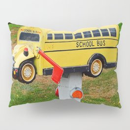 School Bus Mailbox Pillow Sham