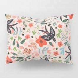 Around The Garden on Pink Pillow Sham