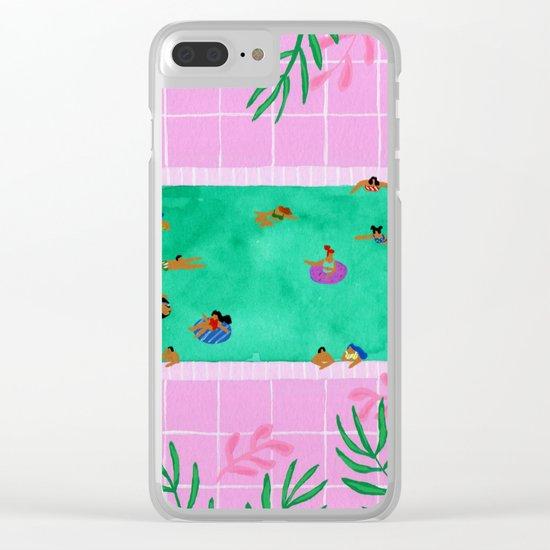 Emerald Pool Clear iPhone Case