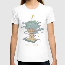 Strike Twice - lighting punk fashion anime pastel goth T-shirt
