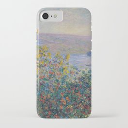 Flower Beds at Vetheuil by Claude Monet iPhone Case