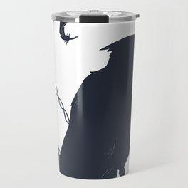 Raven on a Wire Travel Mug