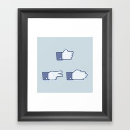 I Like Rock, Paper, Scissors Framed Art Print