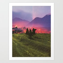 Three Riders Art Print