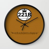 221b Wall Clocks featuring 221B by Lugonbe