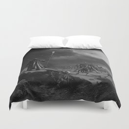 March of the Necromancer Duvet Cover