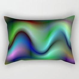 Electric waves Rectangular Pillow