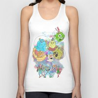 monsters inc Tank Tops featuring Disney Pixar Play Parade - Monsters Inc Unit by Joey Noble