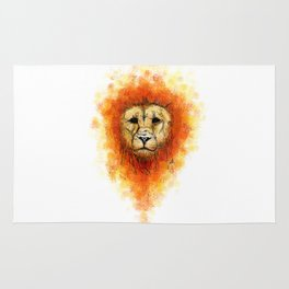 Gesture Lion with Mane Rug