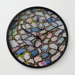 mosaik cobbles Wall Clock