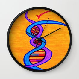 DNA Dancer Wall Clock