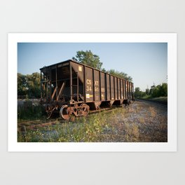 CSX Cement Car Art Print