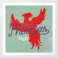 Phoenixes Art Print