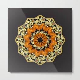 Kaleidoscope of butterflies and flowers Metal Print