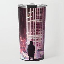 City Hall Rainy Night Travel Mug