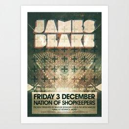 James Blake poster  Art Print