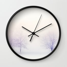 Foggy landscape Wall Clock