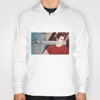 stiles stilinski Hoodies featuring stiles by kala