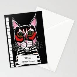 Cat Mug Shot Stationery Cards