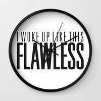 flawless Wall Clocks featuring Flawless by marcbueno
