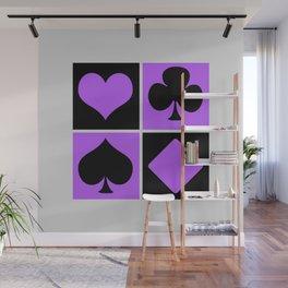 Cards series - Black and purple Wall Mural
