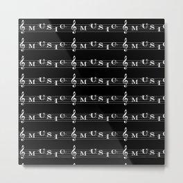 Invert music typography Metal Print