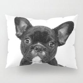 Black and White French Bulldog Pillow Sham