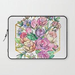 Floral Geometry Laptop Sleeve