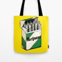 marijuana Tote Bags featuring Mainstream Marijuana by Kelsey Dake