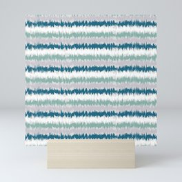 Waves Ocean colours Mini Art Print