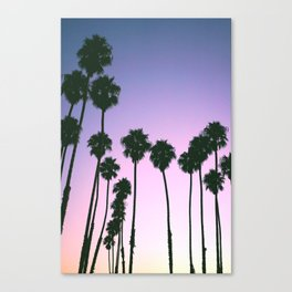 Palm Tree Purple Sunset Canvas Print