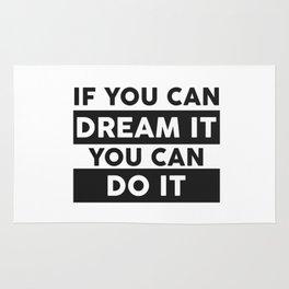 DREAM IT, DO IT Rug