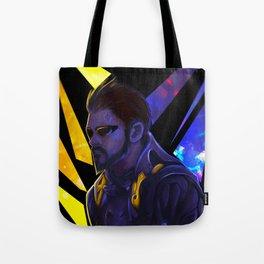 Fan Art Neon Lights Adam Jensen: Deus Ex Tote Bag