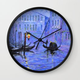 Lilac Night Wall Clock