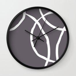 Doodled Overlapping Circles Wall Clock