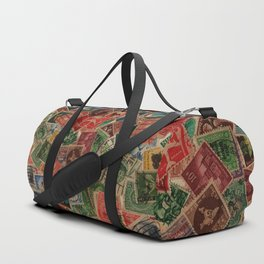 Vintage Postage Stamps Collection Duffle Bag