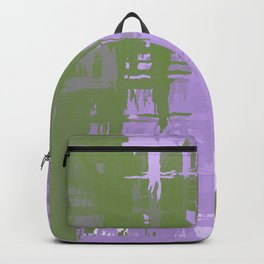 Genderqueer Pride Rough Crosshatched Paint Strokes Backpack