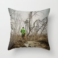 skateboard Throw Pillows featuring Skateboard Stroll by Kimberley Britt