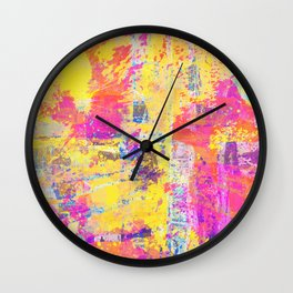 Always Look On The Bright Side - Abstract, textured painting Wall Clock