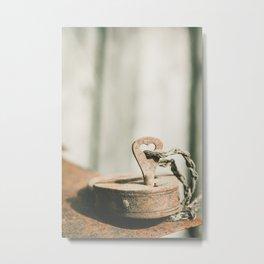 Locked Rust Metal Print