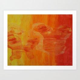 Warm Imprints Art Print