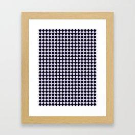 Black and Pale Lavender Violet Diamonds Framed Art Print